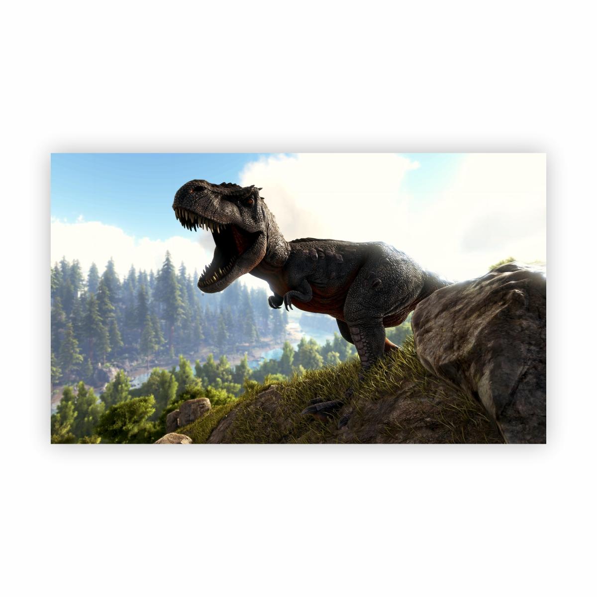 Quadro Dinossauro T Rex Decorativo Paisagem Canvas 100x70cm