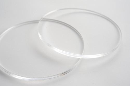 Kit de Círculos Base Biscuit 50 Peças - 5cm - Acrílico Cristal 2mm