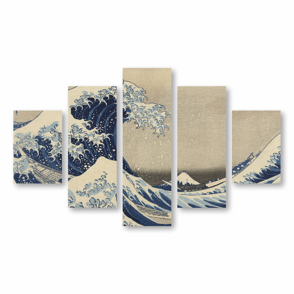 Quadro A Grande Onda de Kanagawa Arte Canvas