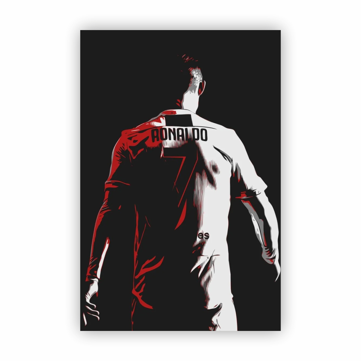 Quadro Canvas Cristiano Ronaldo Cr7 Camisa 7 60x40cm