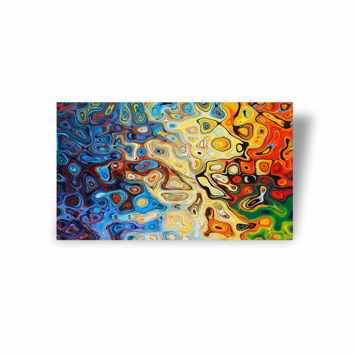 Quadro Canvas Premium Abstrato Mistura de Tinta