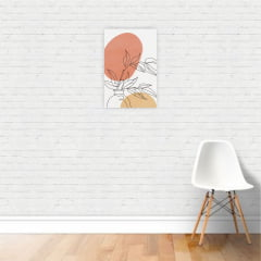 Quadro Canvas Desenho de Vaso com Planta Minimalista 30x40cm