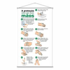 Banner Educativo Aprenda a Lavar as Mãos