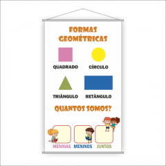 Banner Pedagógico Escolar - Formas Geométricas
