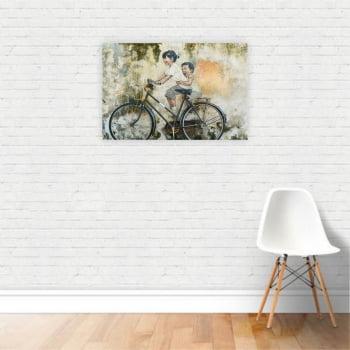 Quadro Canvas Arte Muro Bicicleta Crianças 60x40cm