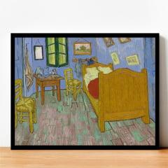 Quadro O Quarto Van Gogh Arte com Moldura Preta