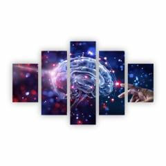 Quadro Mente Psicologia Clínica Decorativo em Canvas NE14C5P