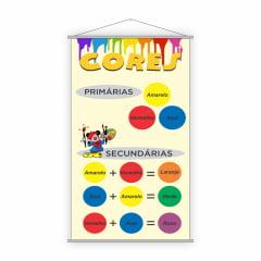 Banner Classificação das Cores Pedagógico Escolar