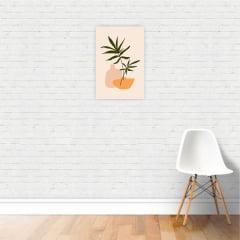 Quadro Canvas Desenho Colorido de Planta Minimalista 30x40cm