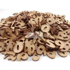 Kit com 310 peças letras De A A Z Alfabeto e Numeros - 3cm De Altura Em Mdf Cru sem