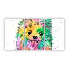 Quadro Canvas Cachorro Lulu da Pomerânia 125x65cm