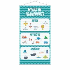 Banner Meios de Transporte Escolar Pedagógico