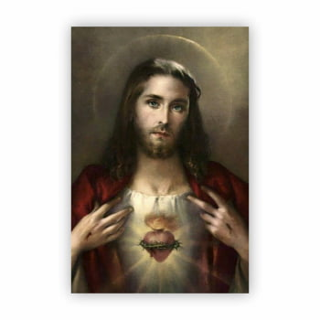 Quadro Canvas Religioso Jesus Cristo Cristianismo 60x40cm
