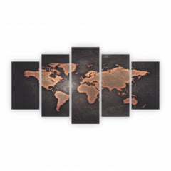 Quadros Mapa - Mapa Mundi- Mundo decorativo em MDF