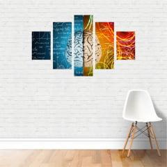 Quadro Mente Psicologia Cálculos Decorativo Canvas NE15C5P