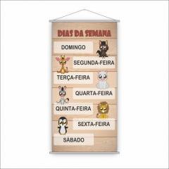 Banner Pedagógico Escolar - Dias da Semana