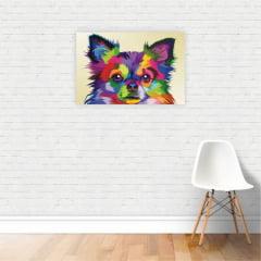 Quadro Canvas Cachorro Chihuahua Animais Decorativo 50x40cm