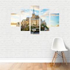 Quadro Abadia Monte Saint Michel Normandia França em Canvas