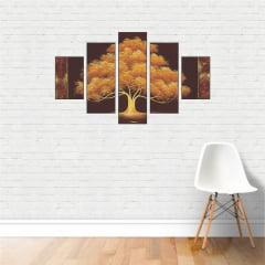 Quadros Abstrato Decorativo Pintura Colorida Árvore 110x65cm