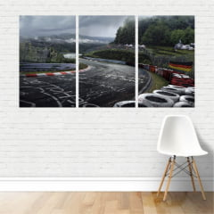 Quadro Triplo Pista corrida de Nurburgring Alemanha Canvas