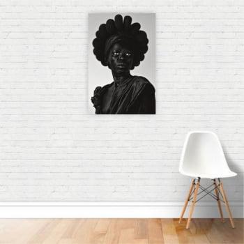 Quadro Canvas Fotografia Artística Mulher Negra 60x40cm