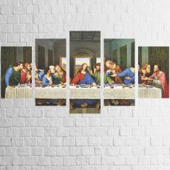 Quadro Canvas Religioso Santa Ceia Jesus Cristo 110x65cm