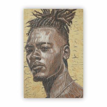 Quadro Canvas Desenho Arte Abstrato Alfred Conteh 60x40cm