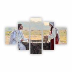Quadro Canvas Jesus e Mulher no Poço