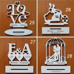150 Lembrancinhas De Casamento Mdf  Decoração 10cm Branca