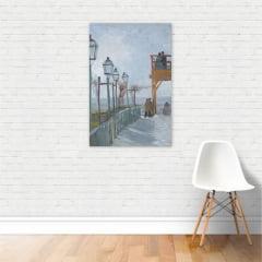 Quadro Montmartre Van Gogh Arte Canvas Vertical 40x60cm