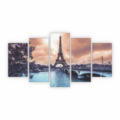 Quadro Paris Decorativo Torre Eiffel Quarto Sala C5M