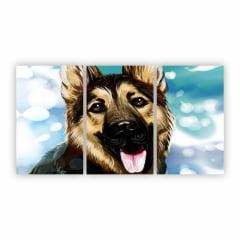 Quadro Canvas Cachorro Céu Azul 125x65cm