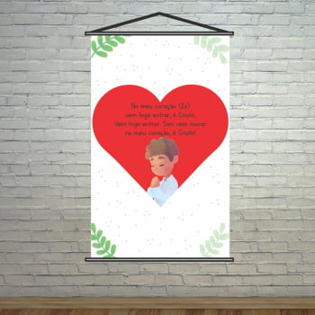 Banner Religioso Oração do Coração Infantil