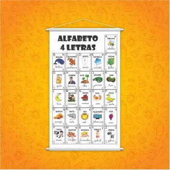 Banner Alfabeto 4 Letras Pedagógico Escolar