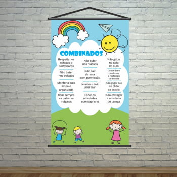 Banner Escolar Pedagógico - Combinadinhos