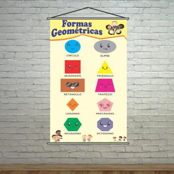 Banner Escolar Pedagógico Formas Geométricas 2