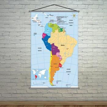 Banner Pedagógico Escolar Mapa América do Sul