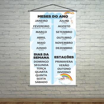 Banner Meses do Ano + Estações + Dias da Semana