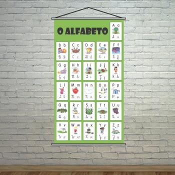 Banner Escolar Pedagógico - O Alfabeto 80x50cm