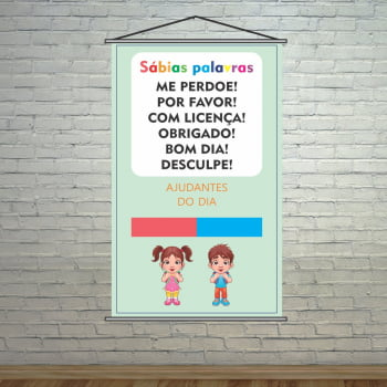 Banner Pedagógico Sábias Palavras Ajudantes do Dia