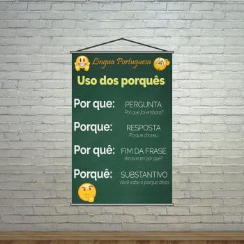 Banner Pedagógico Escolar Português Uso dos Porquês
