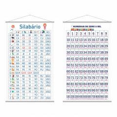 Kit Banners Silabário Simples Numerais Zero a Mil (0 a 1000)