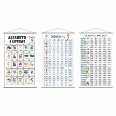 Kit de Banners Alfabeto 4 Letras + Silabário Simples + Complexo