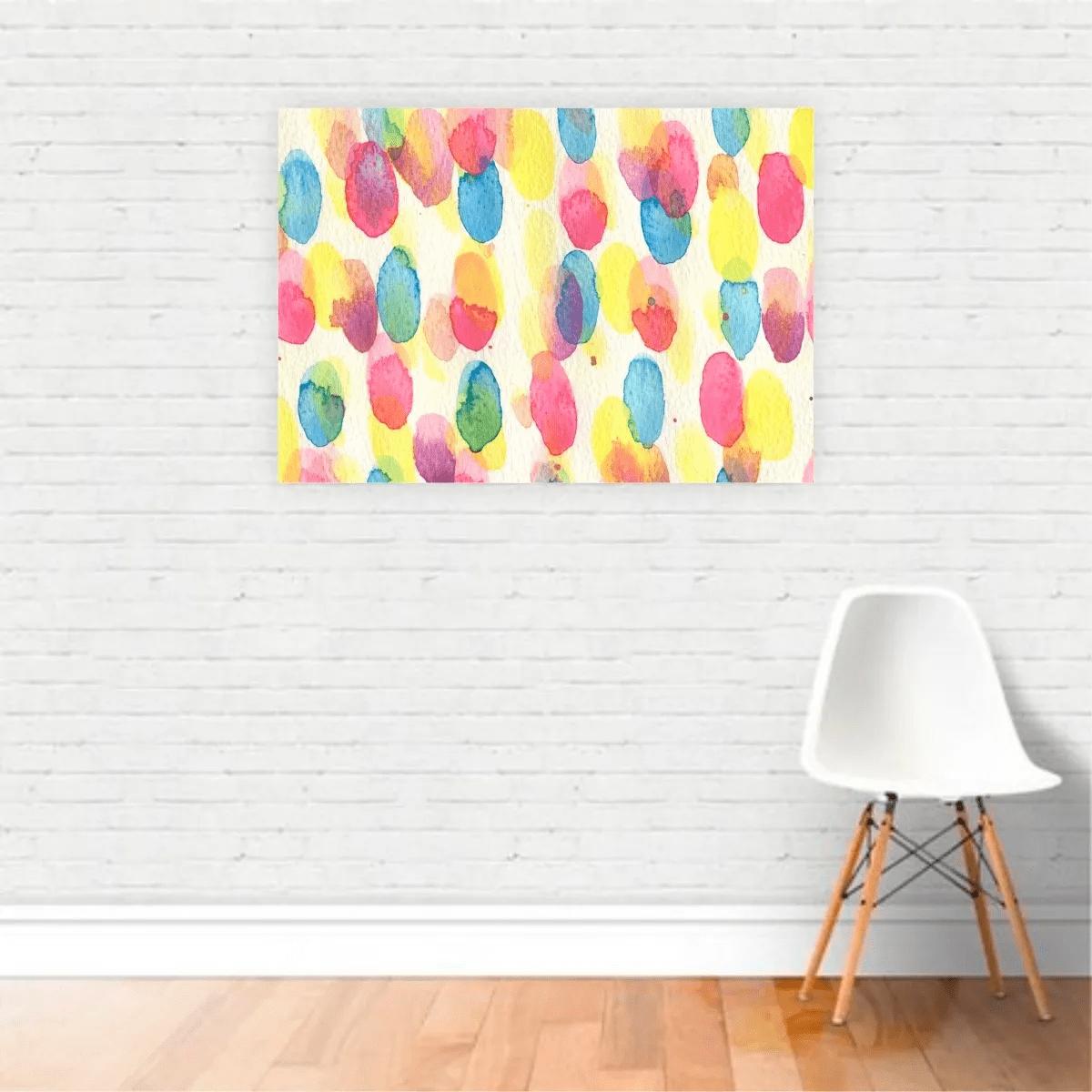 Quadro Canvas Premium Abstrato Tinta Colorida