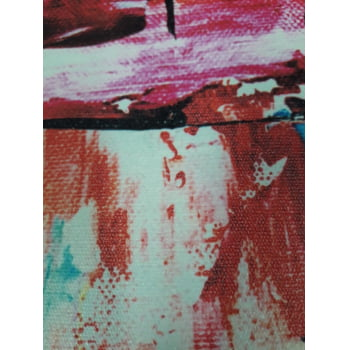 Quadro Canvas Premium Abstrato Tinta Colorido