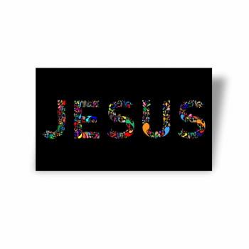 Quadro Canvas Premium Jesus Cristo Palavra Colorida