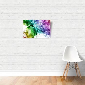 Quadro Canvas Premium Moldura Vapor Colorido