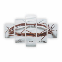 Quadro Coroa De Espinhos Jesus Cristo Foi Por Amor Canvas