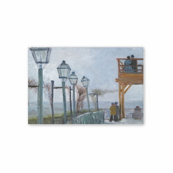 Quadro Montmartre Van Gogh Arte Canvas