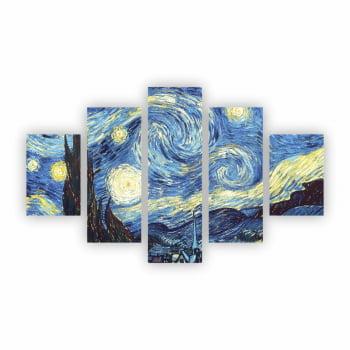 Quadro Canvas Decorativo Van Gogh Noite Estrelada Starry Night